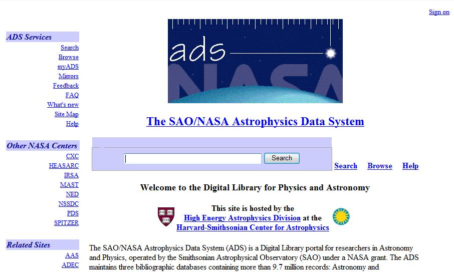 The NASA Astrophysics Data System_开放存取_社科网